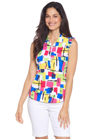 IBKUL Mondrian Sleeveless Multi