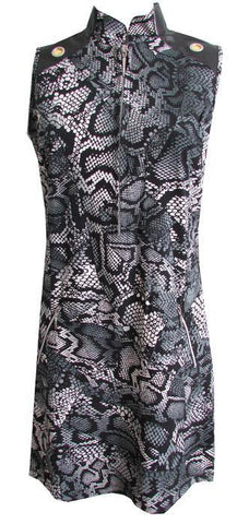 Jamie Sadock Fiji Boa Print Sleeveless Dress