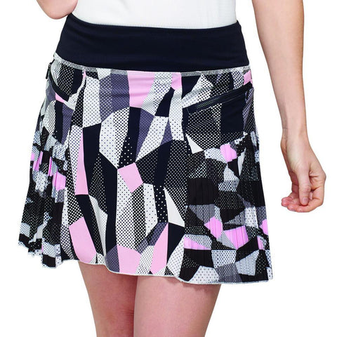 GG Blue Black Dahlia Caddy Skort