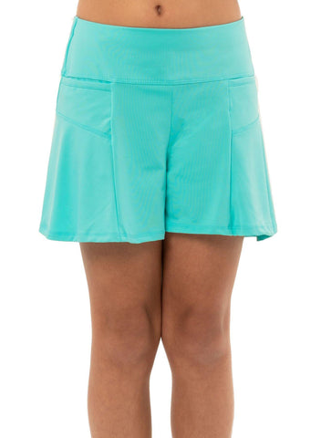 Lucky in Love Junior's Peace Out Flounce Short (Opal)