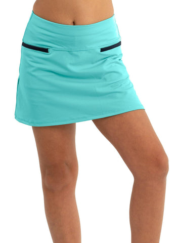 Lucky in Love Junior's Peace Out Pleats Please Skort (Opal)