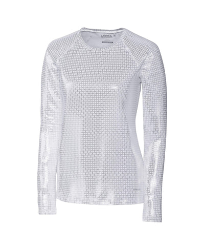 Cutter & Buck ANNIKA Hero Silver Solar Guard Long Sleeve