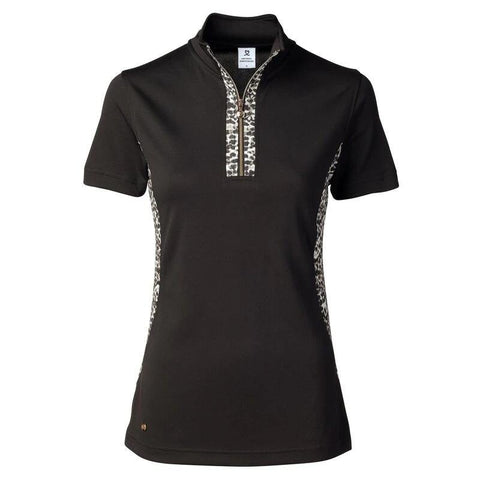 Daily Sports Gold Edition Leonie Black Polo - Gals on and off the Green