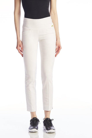 Swing Control White Square Jacquard Masters Ankle Pant