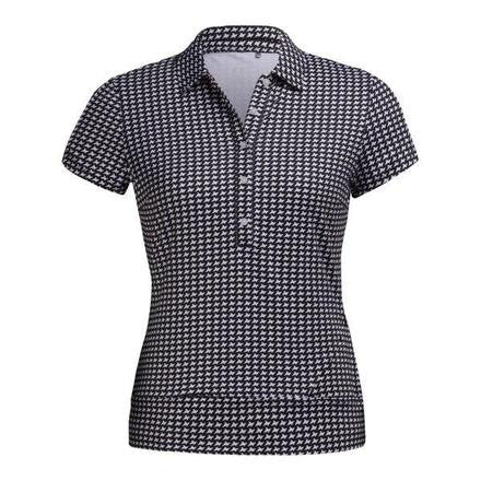 Nivo Sleek Houndstooth Short Sleeve Polo