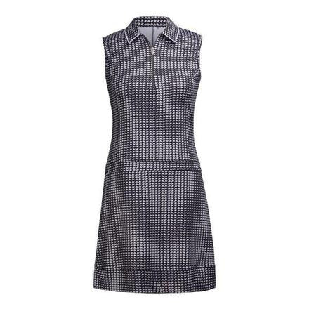 Nivo Sleek Houndstooth Printed Polo Dress