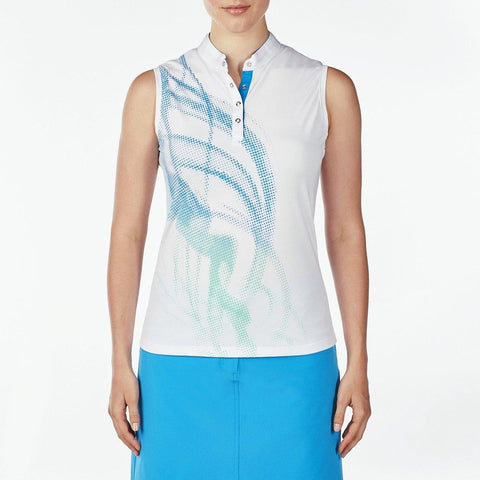 Nivo Destination Demi Mock Sleeveless Polo