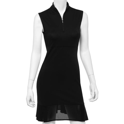 EP Pro Short Sleeve Black Dress - Gals on and off the Green