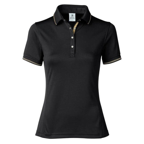 Daily Sports Gold Edition Nyx Black Polo - Gals on and off the Green