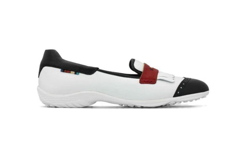 PREVIEW - Royal Albatross Chelsea Shoe in White - Gals on and off the Green