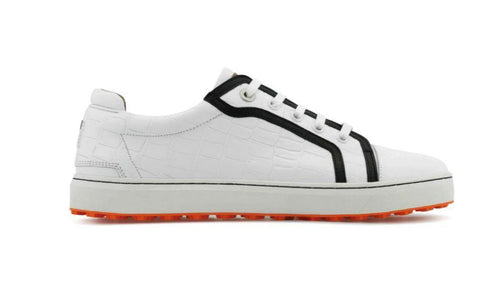 PREVIEW - Royal Albatross Liberty Croc Shoe in White - Gals on and off the Green