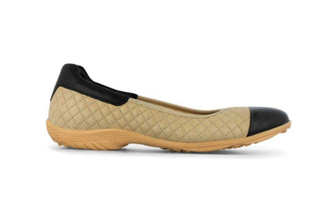 PREVIEW - Royal Albatross Runway Shoe in Beige - Gals on and off the Green