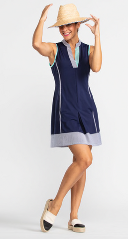 KINONA Kick Pleat Chic Sleeveless Golf Dress