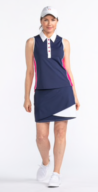 Kinona Button & Run Sleeveless Golf Top (Multiple Colors)