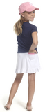 Golftini Girl White Pull On Tech Junior Skort