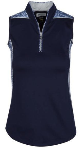 Greg Norman Ava Sleeveless Zip Polo