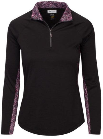 Greg Norman Dianna Long Sleeve 1/4 Zip Mock