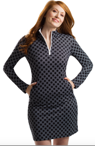 SanSoleil SolStyle Cool Long Sleeve Honeycomb Dress