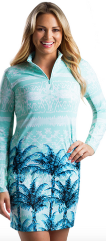 SanSoleil SolStyle ICE Long Sleeve Oasis Dress