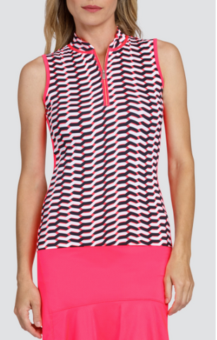 Tail Peony Petals Kamryn Sleeveless Polo