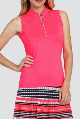 Tail Peony Petals Averie Sleeveless Polo - Gals on and off the Green