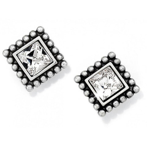 BRIGHTON | Sparkle Square Mini Post Earrings - Gals on and off the Green