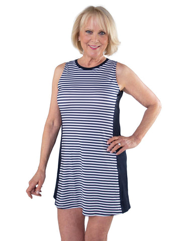JoFit Appletini Sleeveless Stripe Swing Dress