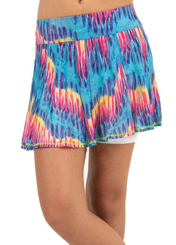 Lucky in Love Junior's Meshing Around Tie Dye Pleated Skort - Gals on and off the Green