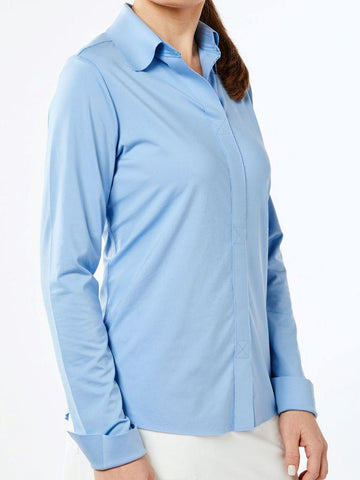 Belyn Key Carlisle Keystoe Long Sleeve Polo