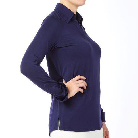 Belyn Key Oxford Long Sleeve Polo