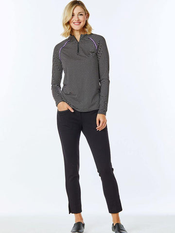 Belyn Key Breckenridge Piped Long Sleeve