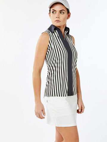 Belyn Key Carlisle Contrast Sleeveless Polo