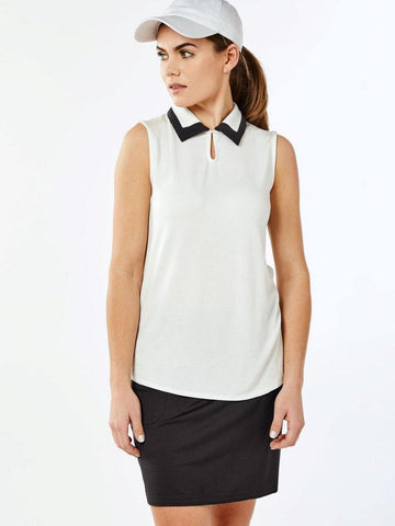 Belyn Key Carlisle Keyhole Sleeveless Polo