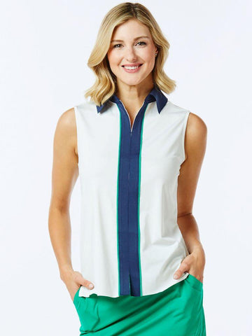 Belyn Key Nantucket Piped Contrast Sleeveless