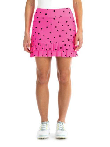 Tzu Tzu ChaCha Bombshell Dots Print Skort - Gals on and off the Green