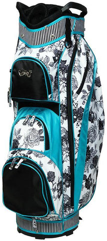GloveIt Black & White Rose Golf Bag