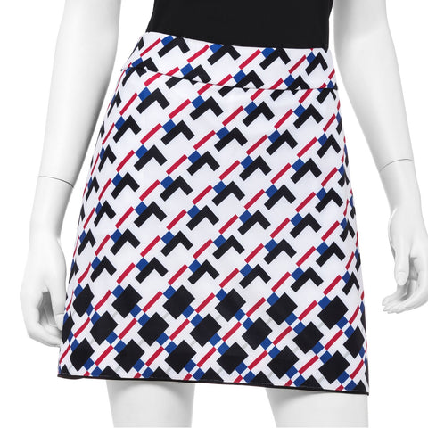 EP Pro Parallels Gradated Geometric Print Skort - Gals on and off the Green