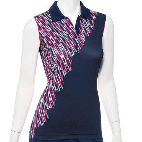 EP Pro Gemstones Inky Ikat Sleeveless Polo