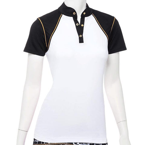EP Pro Wild Card Colorblock Polo - Gals on and off the Green