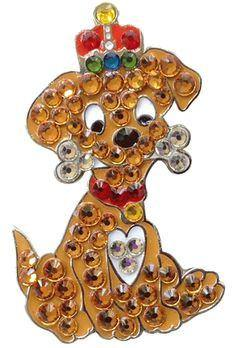 Bonjoc Swarovski Crystal Bentley The Dog Ball Marker