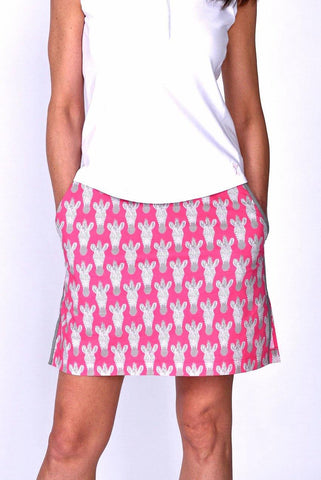 Golftini Animal Print Stretch Cotton Skort
