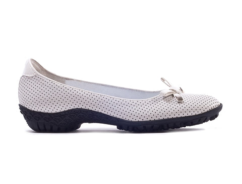 Walter Genuin Bianca Patent in Perforated White