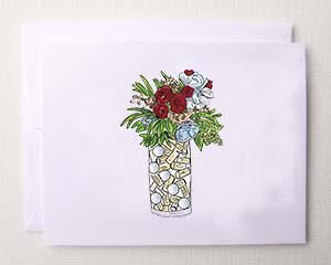 Bloom Designs Note Cards Golf Blooms Print