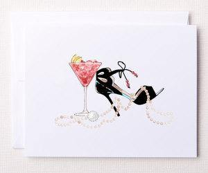 Bloom Designs Note Cards Pearls & Pars Print