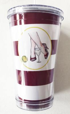 Bloom Designs Wine Now, Tennis Later Tumbler