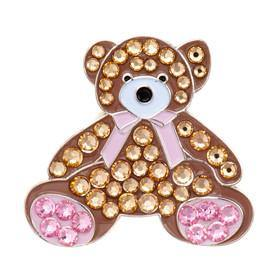 Bonjoc Swarovski Crystal Teddy Bear Ball Marker