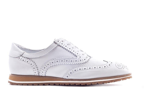 Walter Genuin Brogue Calf White Golf Shoe