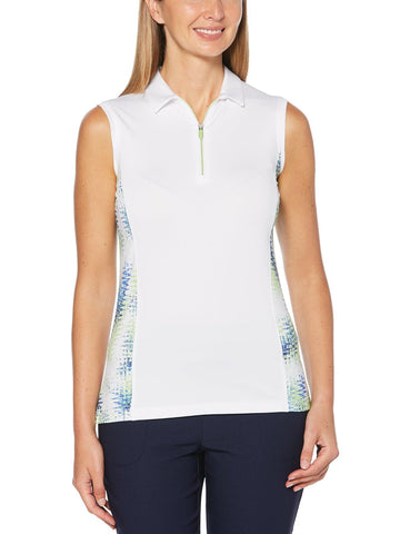 Callaway Women's Sleeveless Printed Polo