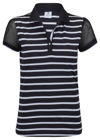 Daily Sports Black Coral Connie Short Sleeve Polo