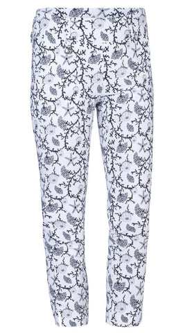 Daily Sports Black Coral White High Water Pants